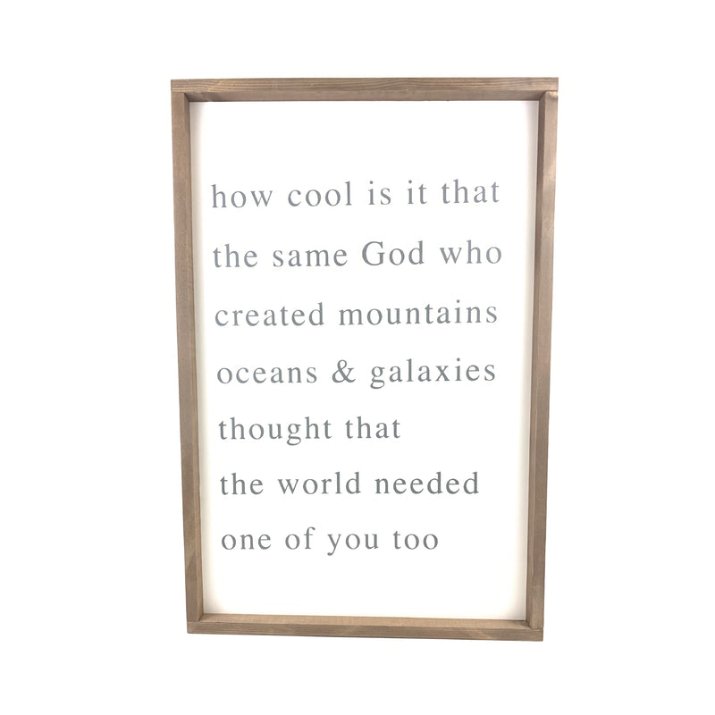 How Cool Is It <br>Framed Saying