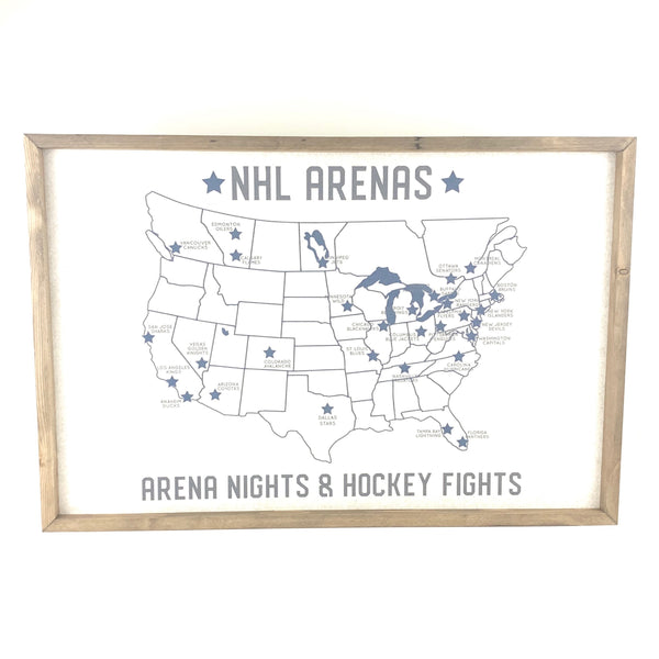 NHL Arena Map Pinboard