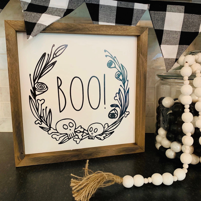 BOO! <br>Framed Saying