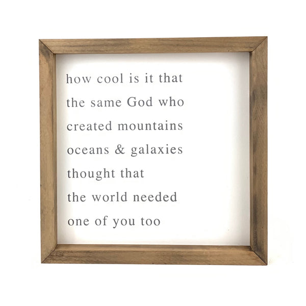 How Cool Is It Square <br>Framed Saying
