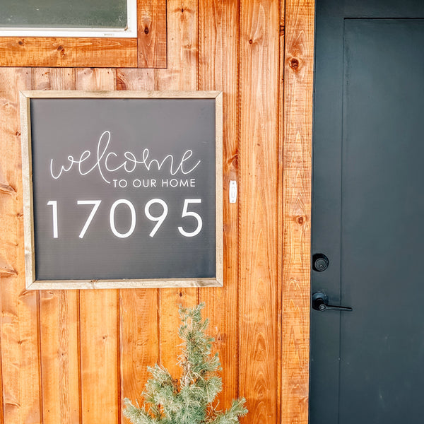 Welcome House Number <br>Personalized Porch Saying