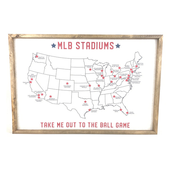 MLB Stadium Map Pinboard