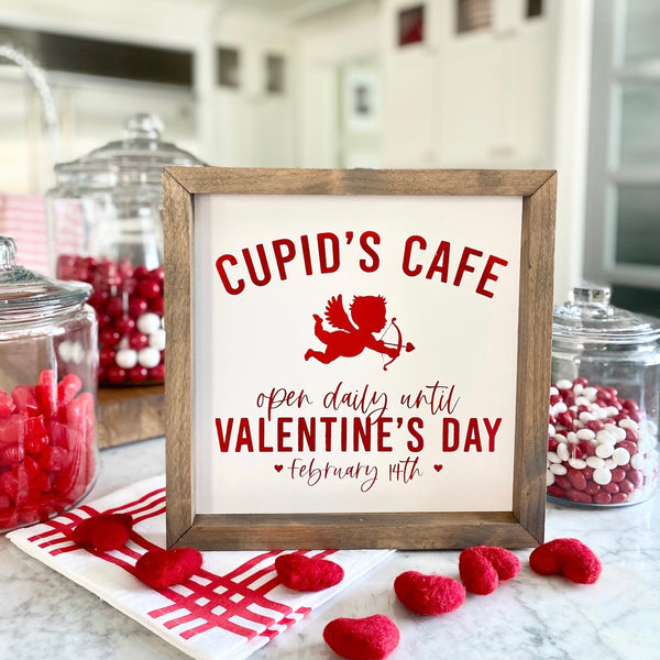 Cupid's Cafe <br>Framed Saying