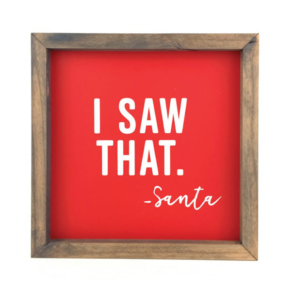 I Saw That <br>Framed Print