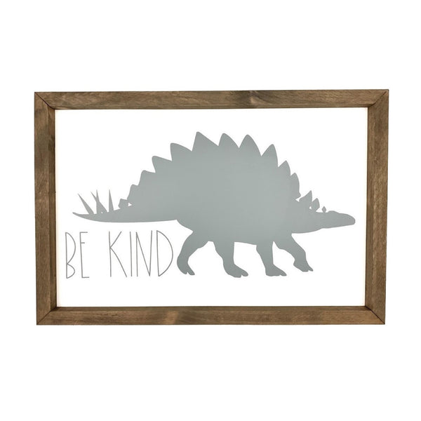 Be Kind Dinosaur Silhouette <br>Framed Art