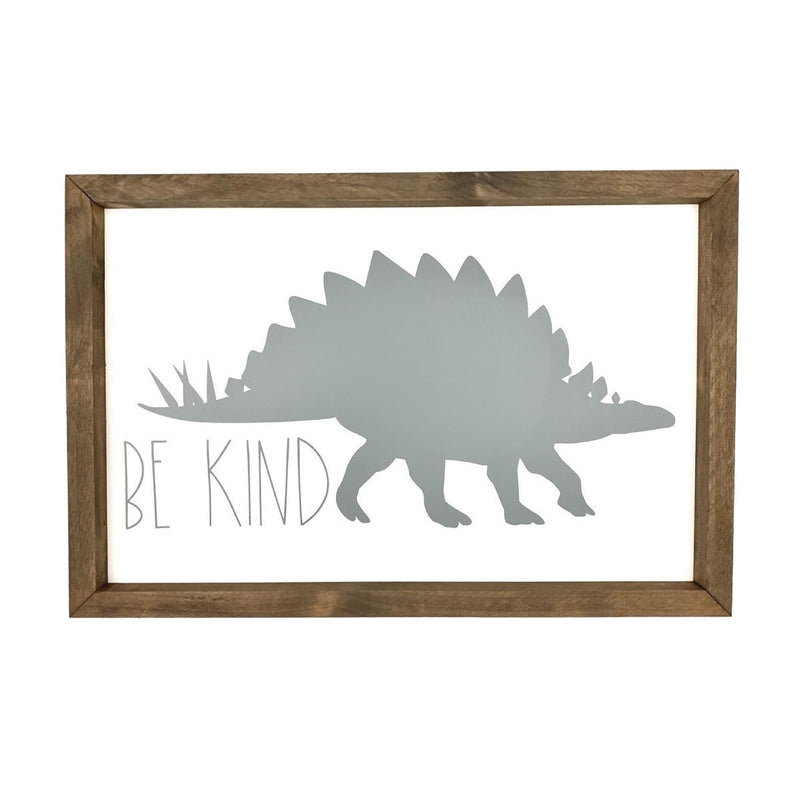 Be Kind Dinosaur Silhouette <br>Framed Saying