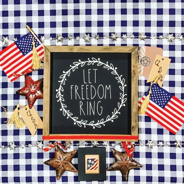 Let Freedom Ring Framed Saying
