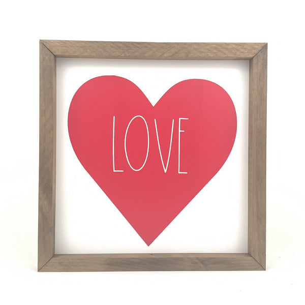 Love Heart <br>Framed Saying