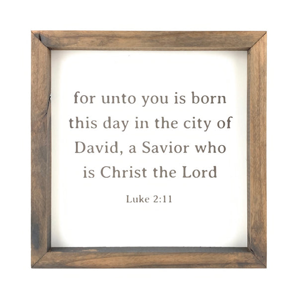 For Unto You Is Born This Day <br>Framed Print