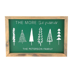 The More The Merrier <br>Personalized Framed Print