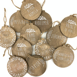 Names of Christ Advent Ornament Set