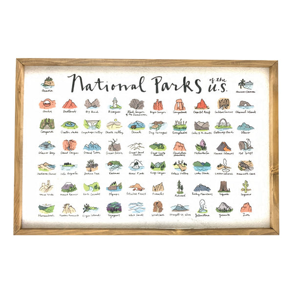 National Park Icons Pinboard