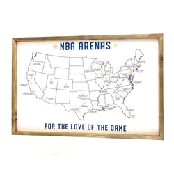 NBA Arena Framed Art