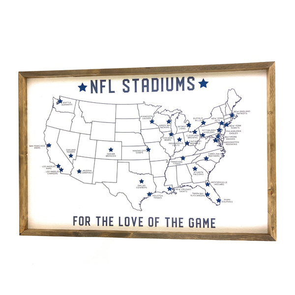NFL Stadium Map Pinboard