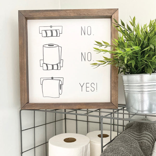 Toilet Paper Diagram <br>Framed Art