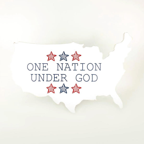 One Nation Under God <br>USA Cutout