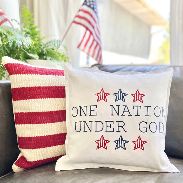 One Nation Under God Pillow