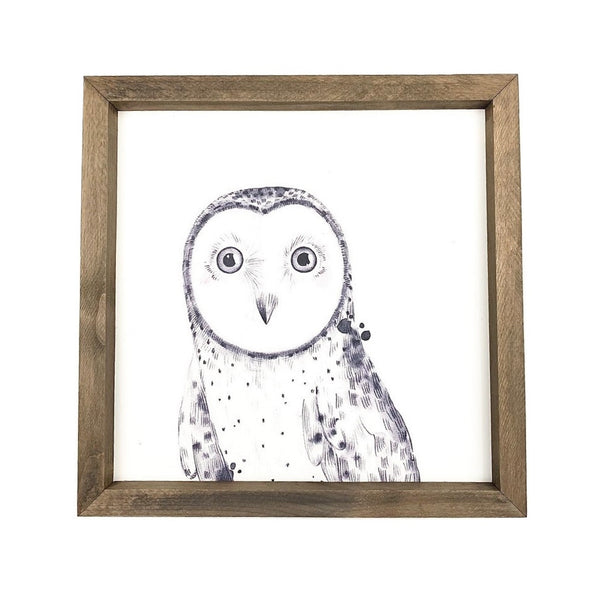 Owl <br>Framed Art