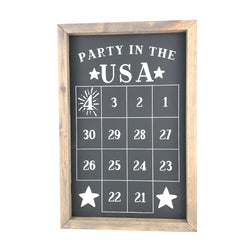 Party in the USA <br>Fourth of July Number Countdown