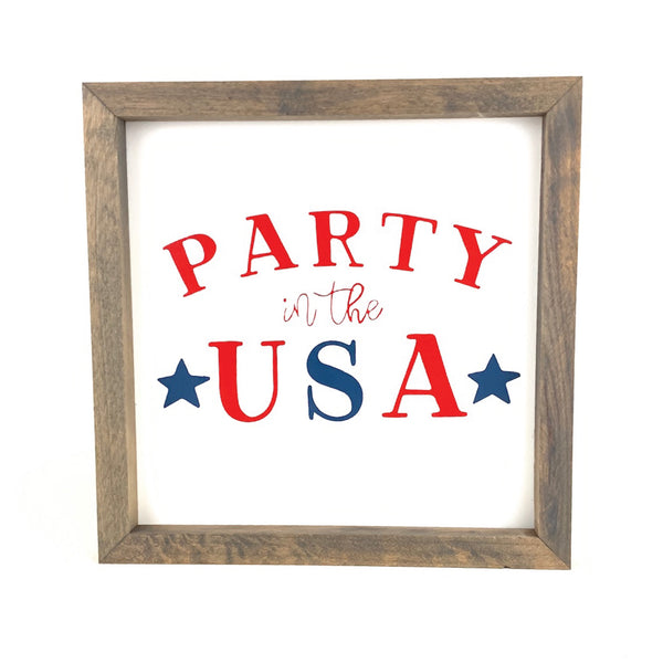 Party in the USA Framed Saying