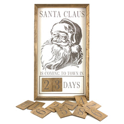 Santa Claus Is Coming Face <br>Magnetic Advent
