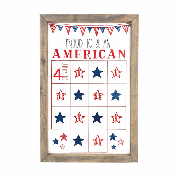 Proud to be an American <br>Fourth of July Star Countdown
