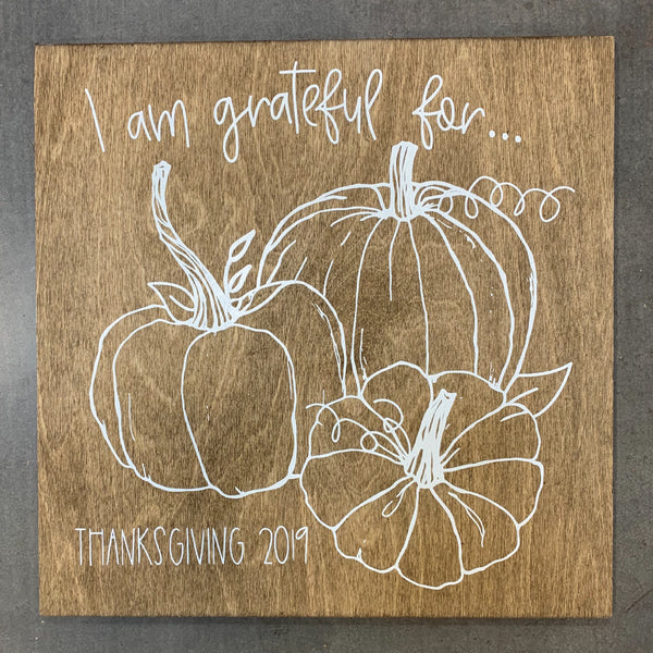 Grateful/Thankful Pumpkin Board