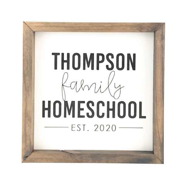 Personalized Family Homeschool <br>Framed Saying
