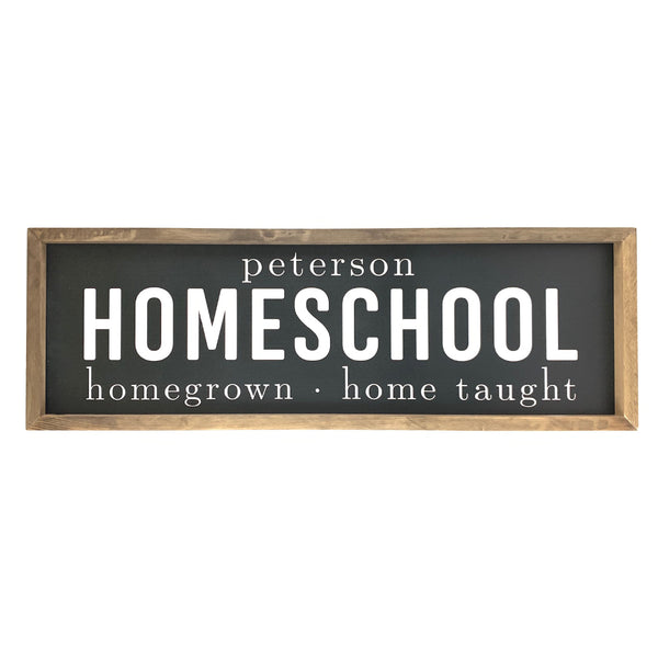 Personalized Homeschool <br>Framed Saying