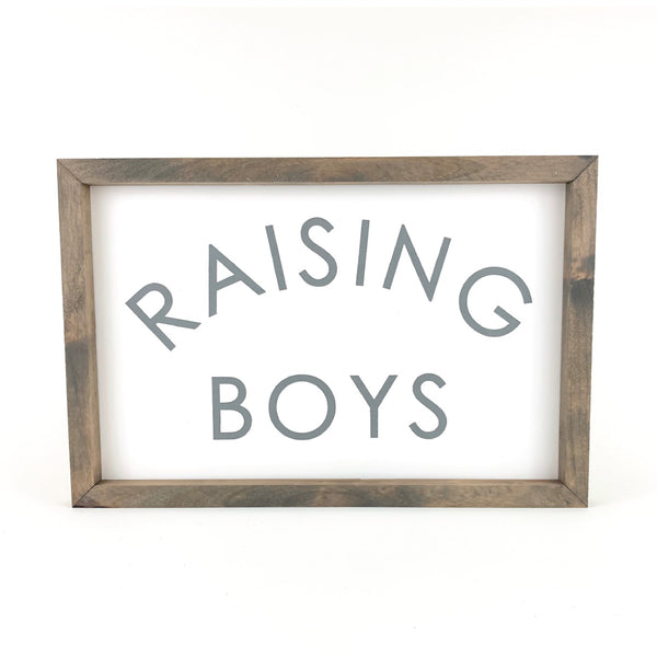 Raising Boys <br>Framed Saying