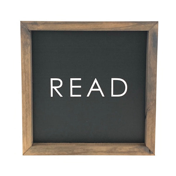 READ <br>Framed Saying