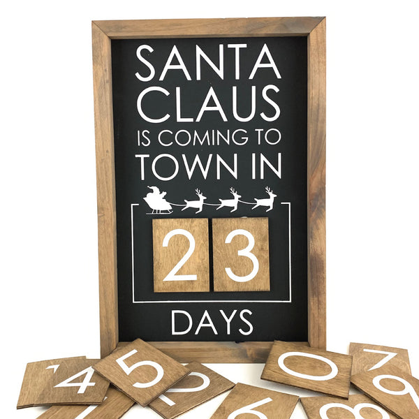 Santa Claus Is Coming Modern <br>Magnetic Advent