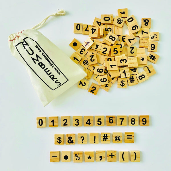 Scrabble Numbers & Punctuation (Set of 100)