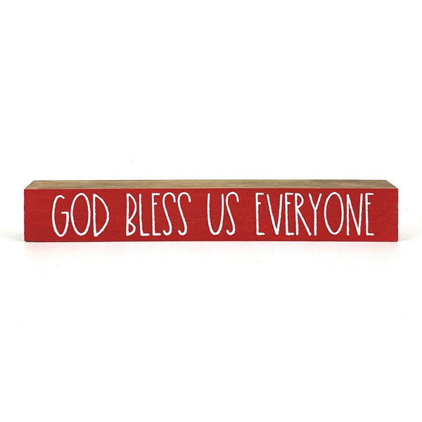God Bless Us Everyone <br>Shelf Saying