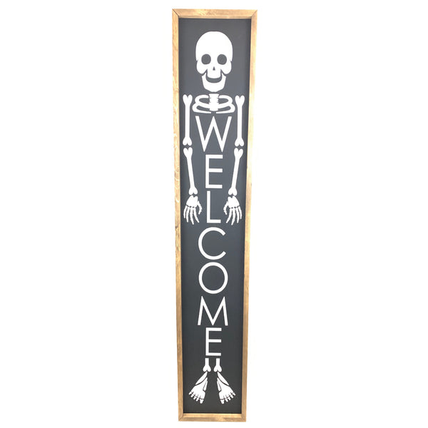 Skeleton Welcome <br>Porch Board