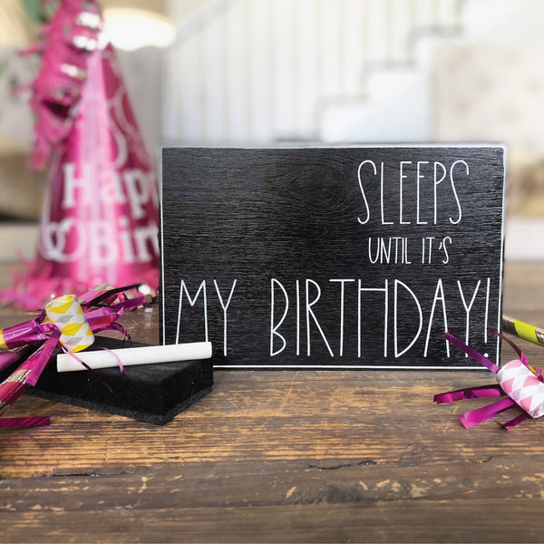 Sleeps Until My Birthday Large Countdown <br>Shelf Block