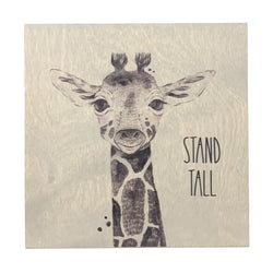 Stand Tall Frameless Wood Board