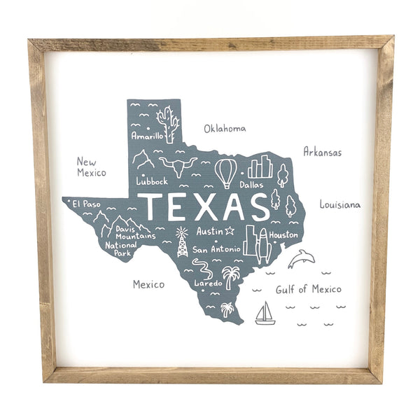 Texas Icons <br>Framed Art