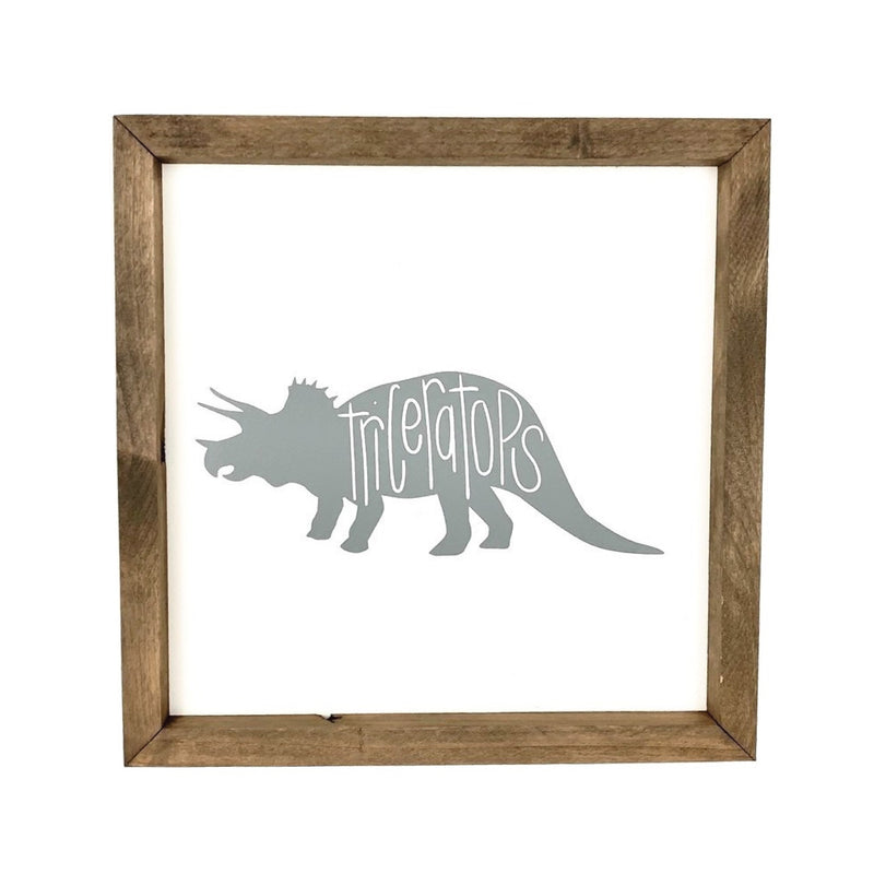 Triceratops <br>Framed Art