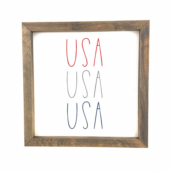 USA USA USA Framed Saying