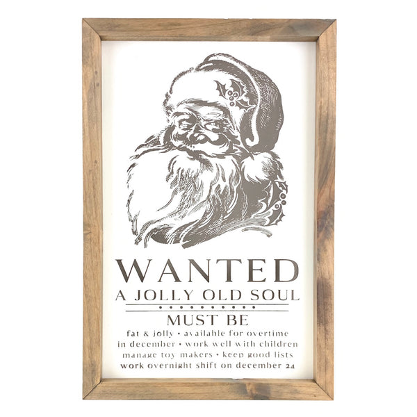 Vintage Jolly Old Soul <br>Framed Print