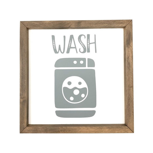 Wash <br>Framed Saying