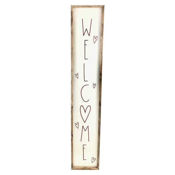 Welcome Hearts <br>Porch Board