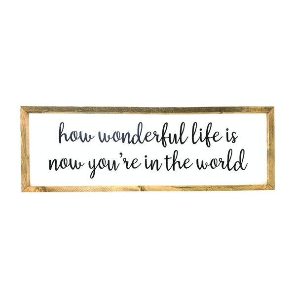 How Wonderful Life Is Framed Saying