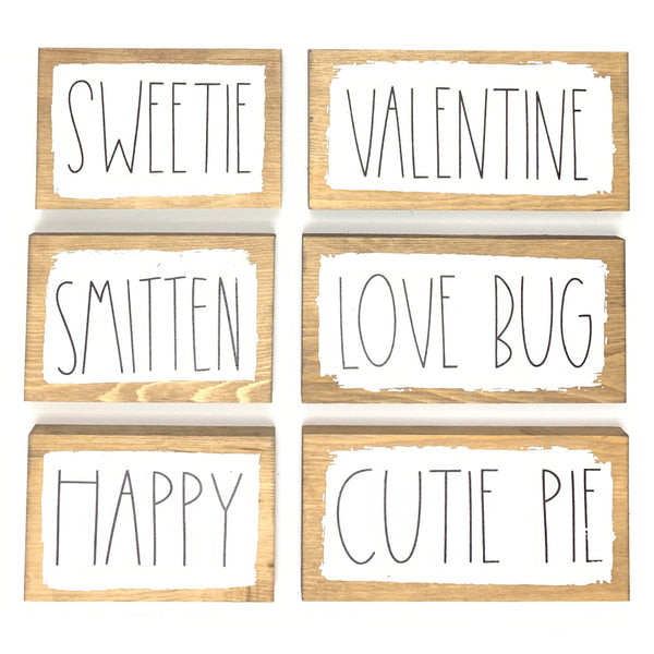 Valentines Word Blocks