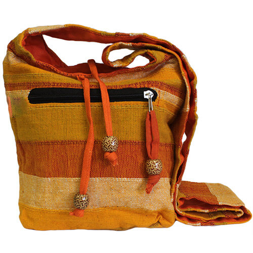"Sac bandoulière"" hippie"" ton orange"