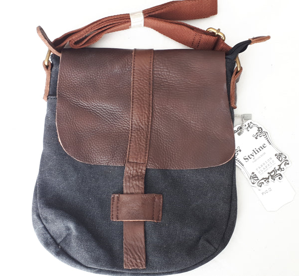 "Sac bandoulière "" natural zen"" anthracite"