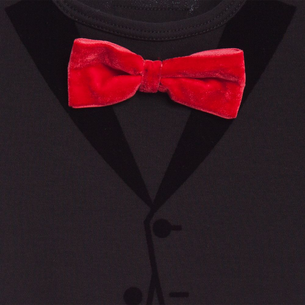 The Tiny Tuxedo Red Bow (Svart)