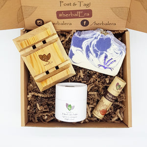 Gift set box christmas birthday spa for her for her for mom for dad anniversary birth prom girl boy valentine's day mother's day father's day skin care self care natural organic fair trade local soap soap tray Valentine gift