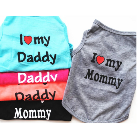 I love my mommy daddy Puppy T Shirt